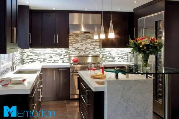 آشپزخانه مدرن، با محیطی آرامش بخش