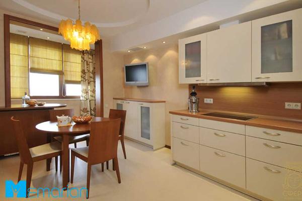آشپزخانه مینیمال به همراه کابینت ممبران