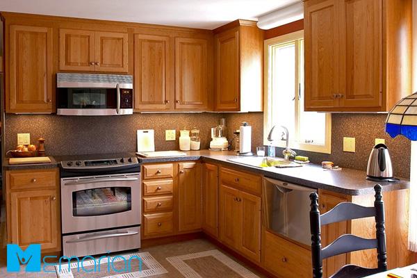کابینت مدرن چوبی در آشپزخانه