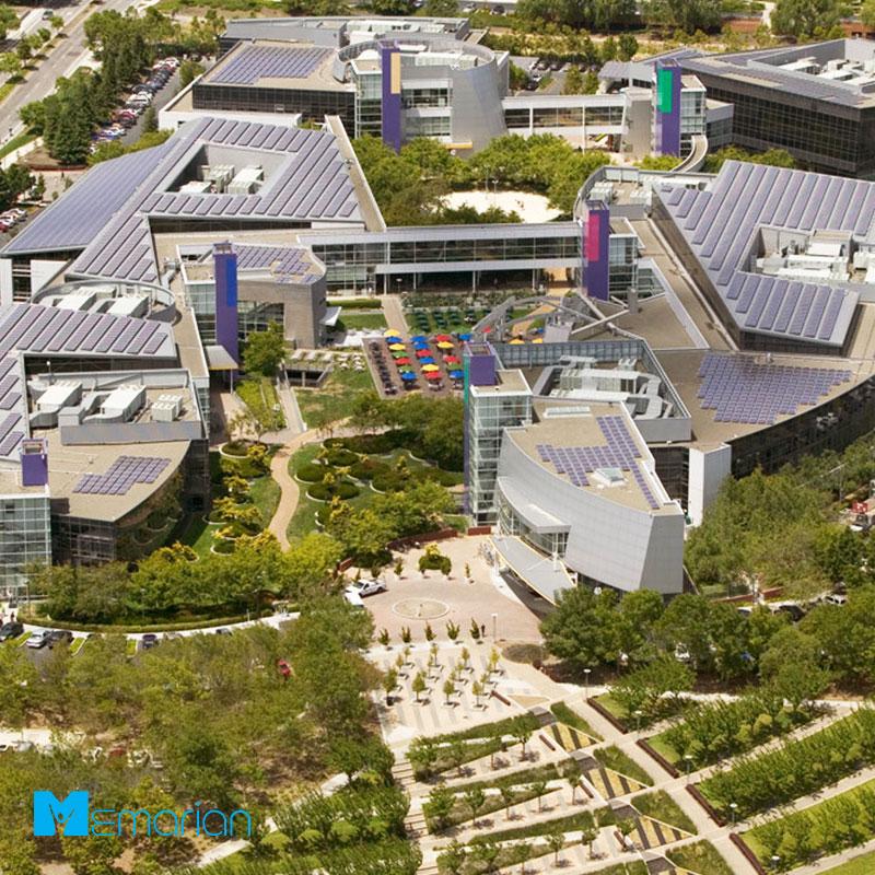 نمای ساختمان گوگل از بالا