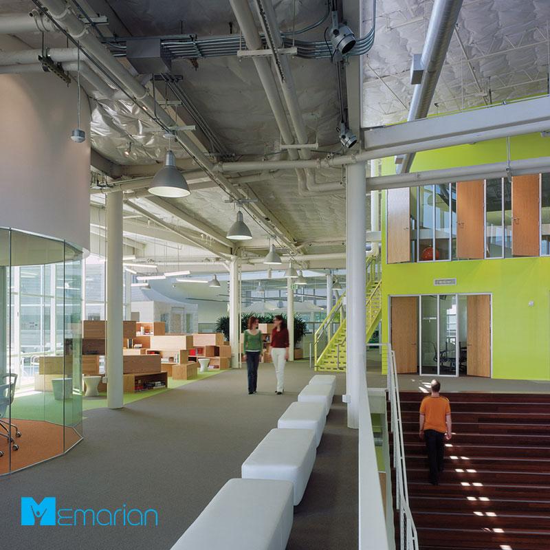نمای داخلی از معماری شرکت گوگل