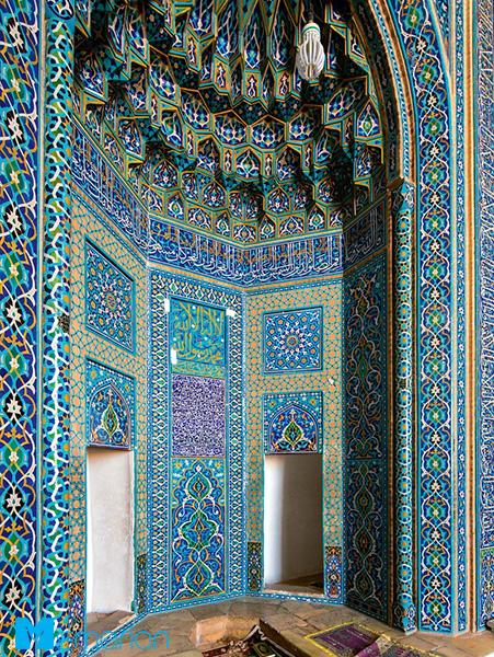 طرح اسلیمی در معماری مسجد جامع یزد (یزد، ایران)