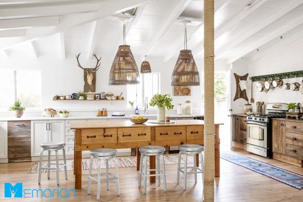 نورپردازی آشپزخانه بزرگ