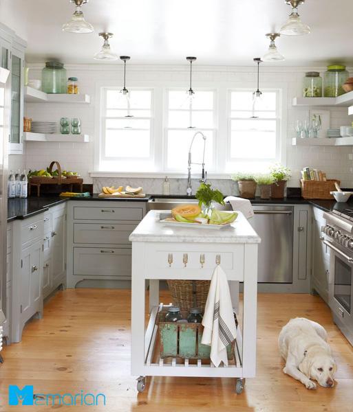 آویز شفاف برای روشن تر کردن محیط آشپزخانه