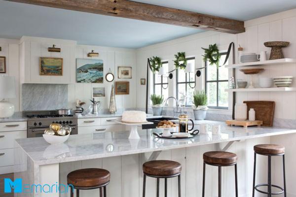 نورپردازی آشپزخانه زیبا همچون یک تمثال