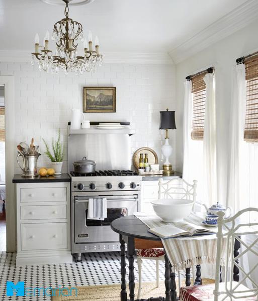 نورپردازی ظریف و زیبا در دکوراسیون آشپزخانه