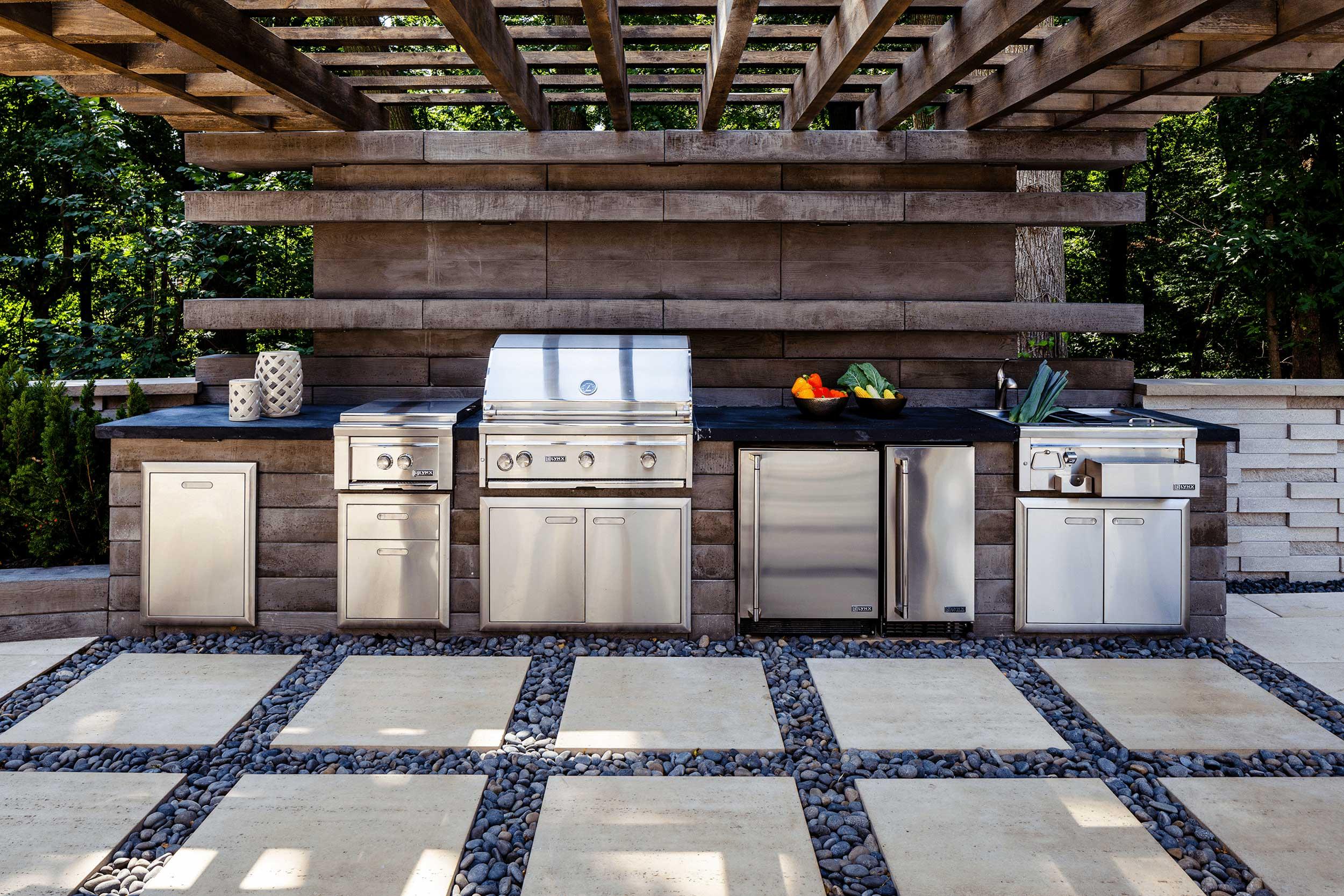 ایده های جذاب برای طراحی آشپزخانه در فضای خارجی