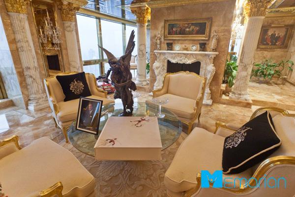 دکوراسیون جذاب خانه ترامپ