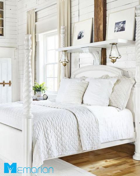 ساماندهی اتاق خواب به کمک رنگ سفید