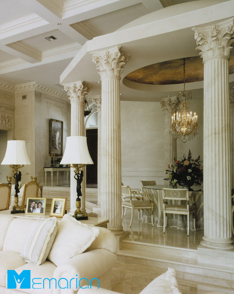 تزئین ستون در خانه ای با سبک کلاسیک