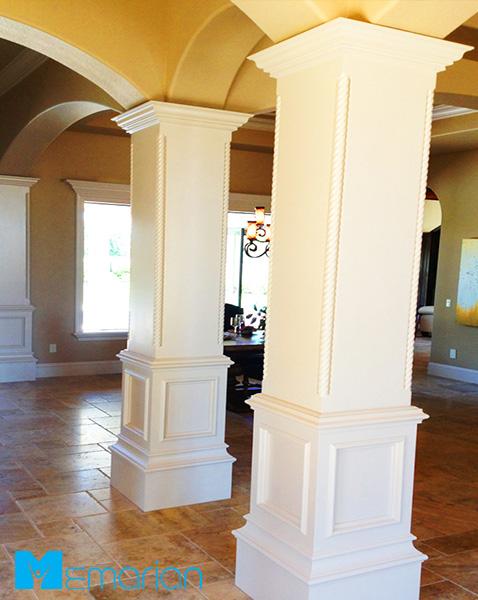 دکوراسیون ستون مربعی شکل در خانه