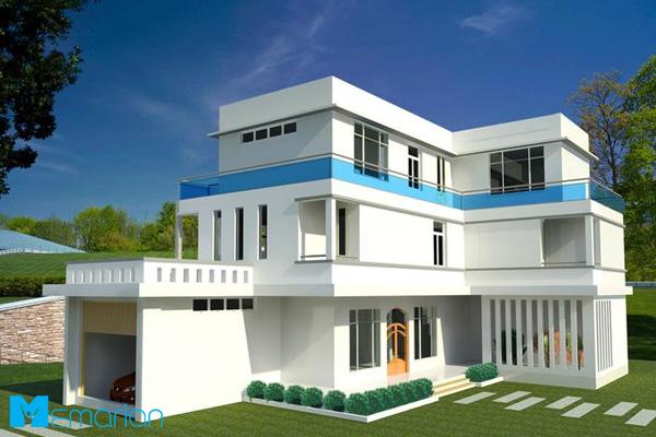 معماری نمای خارجی و مهندسی پلان داخل خانه