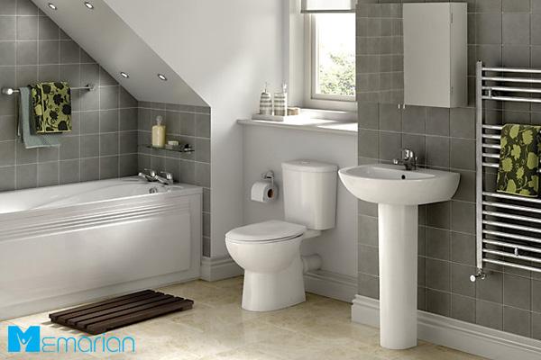 حمام شیک و سرویس بهداشتی فرنگی در کنار یکدیگر