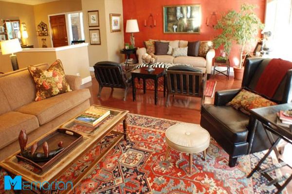 فرش ایرانی در خانه متراژ کم