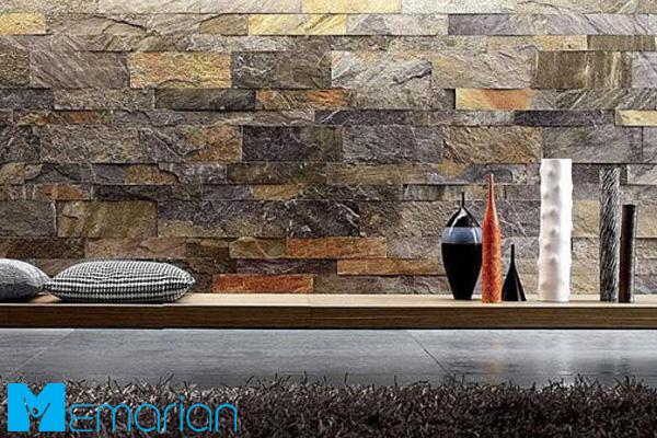 سنگ دکوراتیو با طرح چند رنگ در خانه