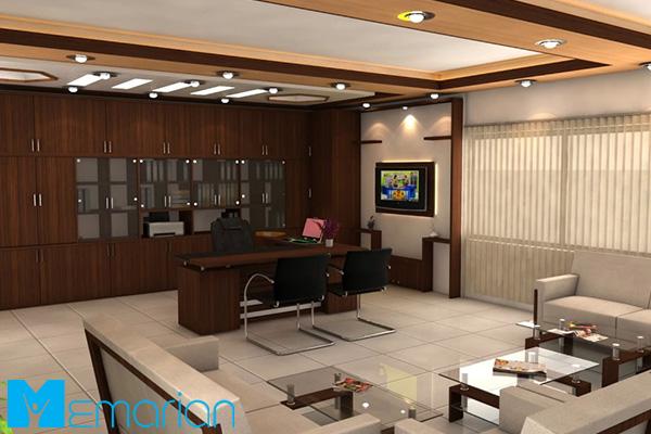 استفاده از بهترین ترکیب رنگ ها در اتاق مدیریت مدرن