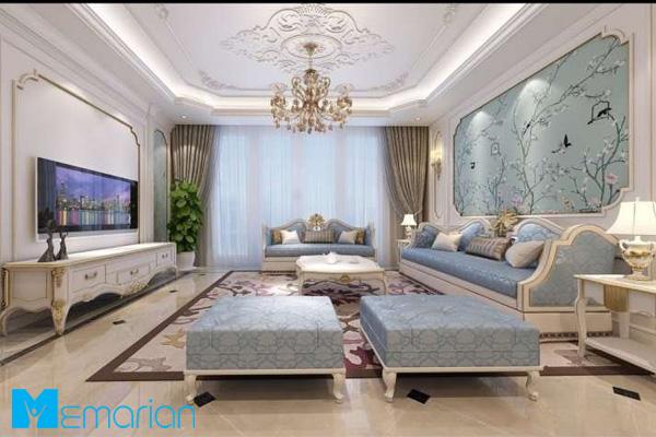 نورپردازی سقف در خانه آپارتمان ایرانی