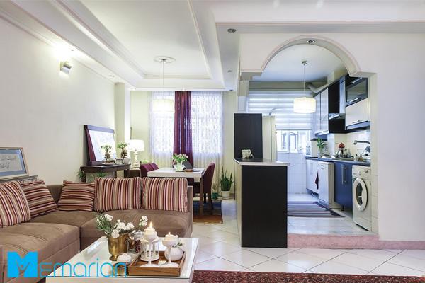 دکوراسیون آپارتمان ایرانی مدرن دنج و کوچک