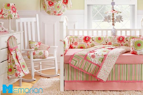 اتاق کودک دخترانه مدرن با رنگ صورتی
