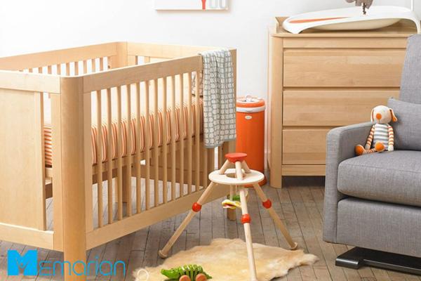 تخت کودک مدرن با رنگ قهوه ای روشن