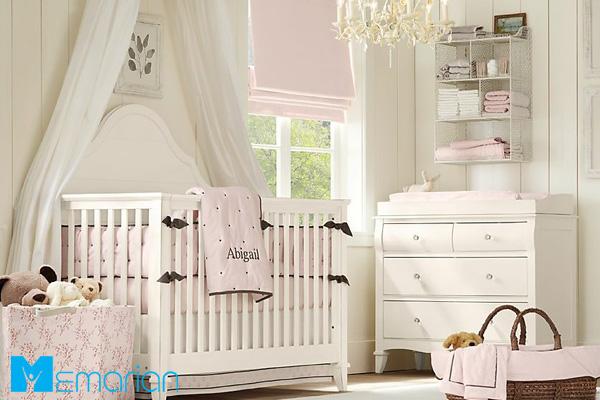 مدل تخت کودک سفید و مدرن