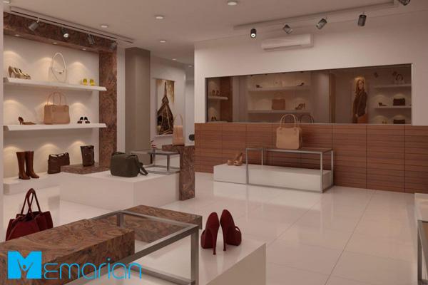 طراحی ویترین مغازه لوکس و مدرن