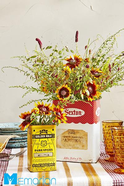 از گل و گیاهان در خانه پاییزی استفاده کنید
