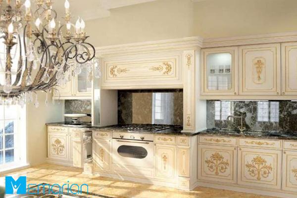رنگ طلایی، مکملی فوق العاده برای کابینت آشپزخانه