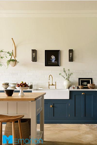 دیوار ساده آشپزخانه - ایده کاشی آشپزخانه