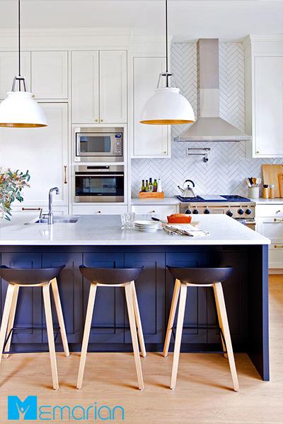 الگوی روشن در آشپزخانه - کاشی آشپزخانه مدرن