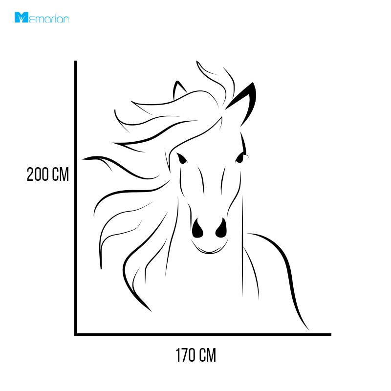 استیکر دیواری اسب